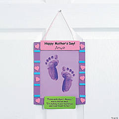 Footprint Mother's Day Keepsake Banner Craft Kit