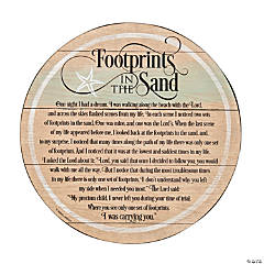 Footprints in the Sand Barrel Plaque