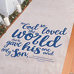 For God So Loved the World Aisle Runner
