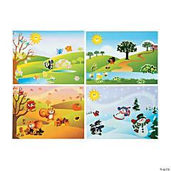 Four Seasons Sticker Scenes