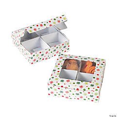 Four-Section Christmas Treat Boxes