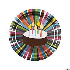 French Bull® Birthday Cake Paper Dinner Plates