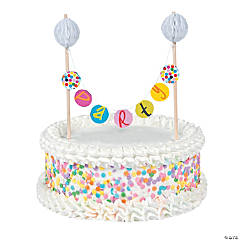 French Bull® Birthday Dots Banner Cake Topper