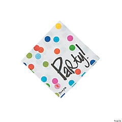 French Bull® Birthday Dots Beverage Napkins