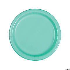 Fresh Mint Green Round Dinner Paper Plates