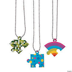 Friendship Puzzle Dog Tag Necklaces
