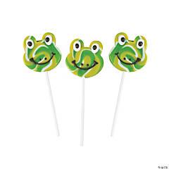 Frog Swirl Pop Lollipops
