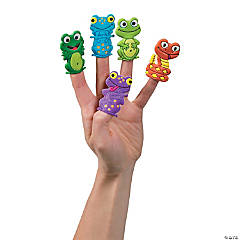 Frogs & Reptiles Puffy Finger Puppets