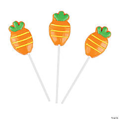 Frosted Carrot Lollipops