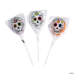 Frosted Day of the Dead Lollipops