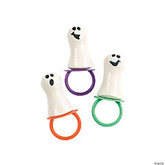 Frosted Ghost-Shaped Pacifier Suckers