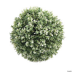 Frosted Greenery Décor Ball
