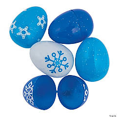 Frosted Sparkle Plastic Easter Eggs