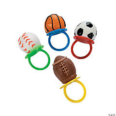 Frosted Sport Ball Ring Lollipops