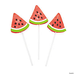 Frosted Watermelon Wedge Lollipops