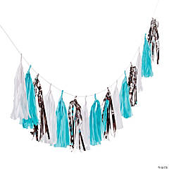 Frosty Winter Tassel Garland