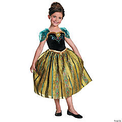 Frozen Coronation Anna Costume for Girls