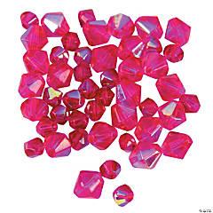 Fuchsia Aurora Borealis Cut Crystal Bicone Beads - 4mm-6mm