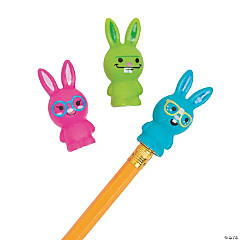 Fun Bunny Pencil Toppers