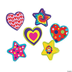 Fun Design Star & Heart Rings