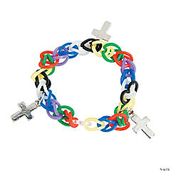 Fun Loop Bracelets with Cross Charms