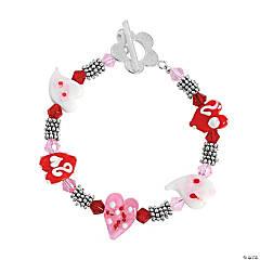 Funky Heart Lampwork Bead Bracelet Idea