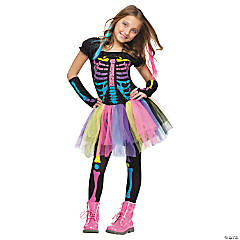 Funky Punk Bones Costume for Girls