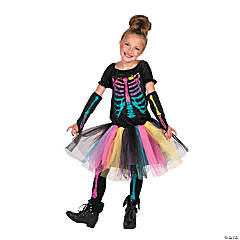 Funky Punky Bones Large Skeleton Costume For Girls