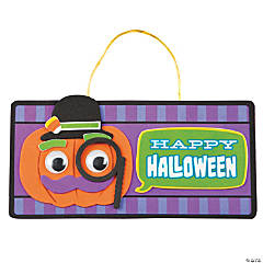 Funny Face Halloween Sign Craft Kit