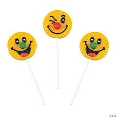 Funny Face Jelly Bean Lollipops