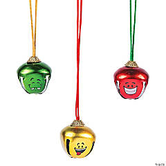 Funny Face Jingle Bell Necklaces