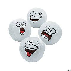 Funny Face Plush Snowballs