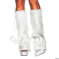 Furry Leg Warmers White