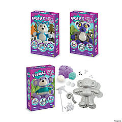 Fuzzeez Fuzzy Buddies Stuffed Animal Kits: Set of 3