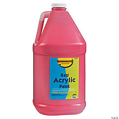 Gallon Acrylic Paints - Red