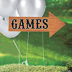 Games Directional Yard Sign