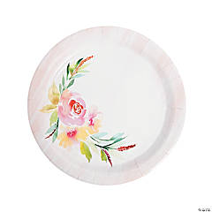 Garden Party Paper Dinner Plates