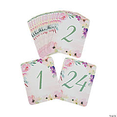 Garden Party Table Numbers