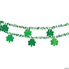 Garland with Shamrock Cutouts