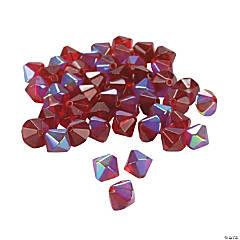 Garnet Aurora Borealis Crystal Bicone Beads - 8mm