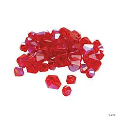 Garnet Aurora Borealis Cut Crystal Bicone Beads - 4mm-6mm