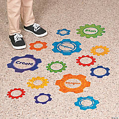 Gears Floor Clings