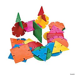 Geometric Connecting Shapes Building Blocks Set