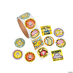 Germs Roll of Stickers
