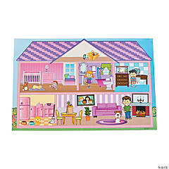 Giant Doll House Sticker Scenes