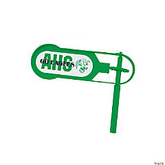 Giant Green Team Spirit Custom Photo Noisemakers