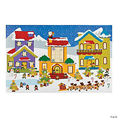Giant North Pole Sticker Scenes