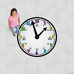 Giant Teaching Time Floor Cling