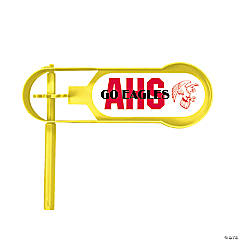 Giant Yellow Team Spirit Custom Photo Noisemakers