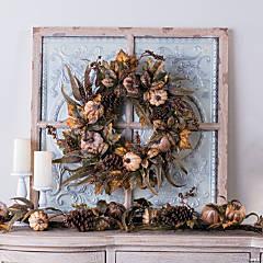 Gilded Harvest Floral Wreath